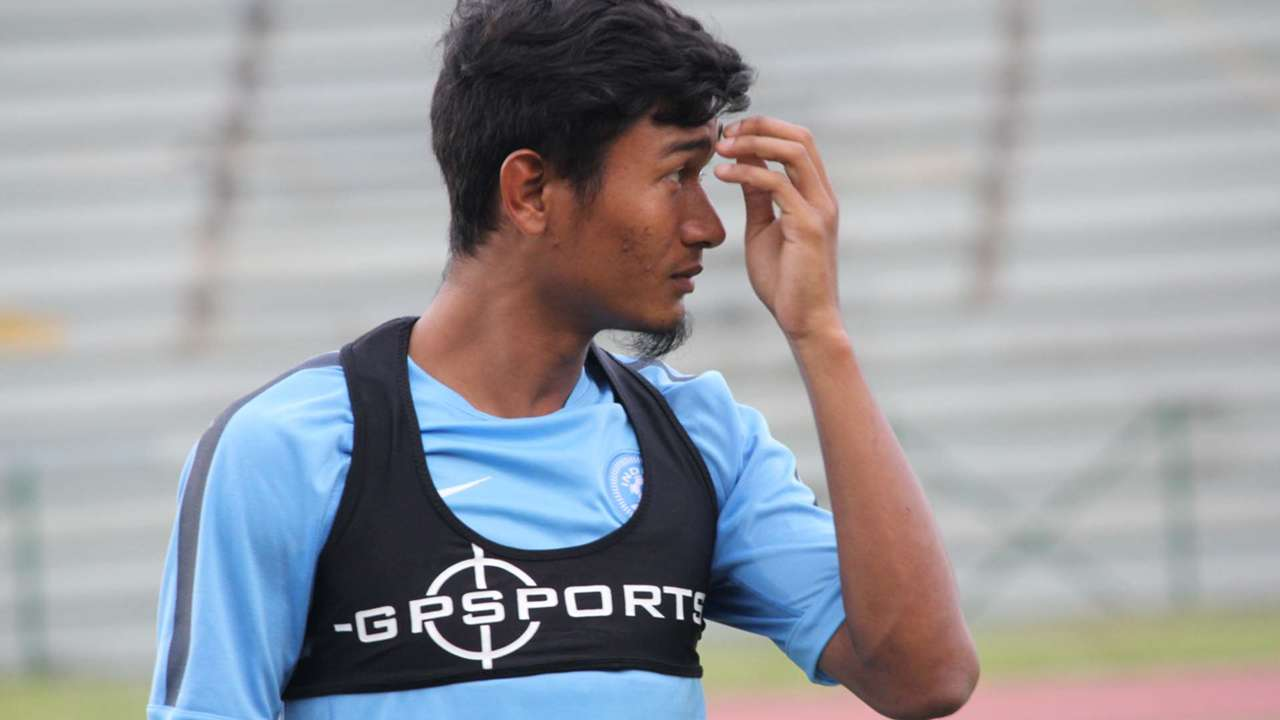 Holicharan Narzary Indian National Team training session