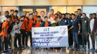 Indian U23 contingent's welcome in Qatar