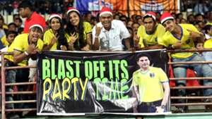Fan's enjoy ISL match between Kerala Blasters FC and FC Pune City