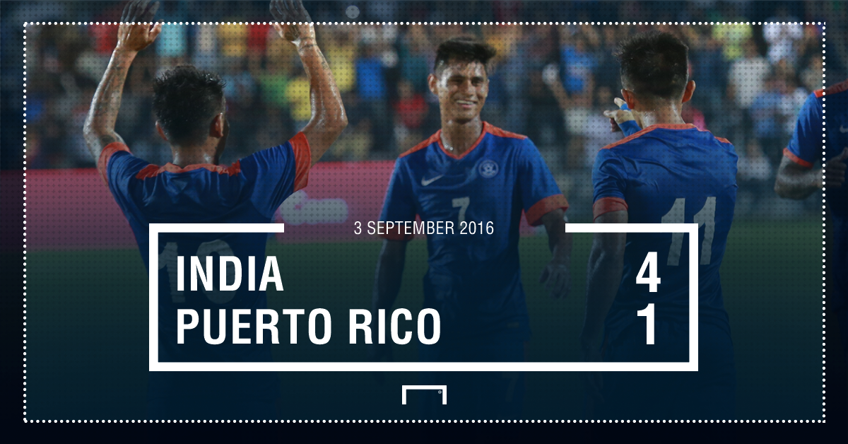 PS - India 4-1 Puerto Rico Full Time