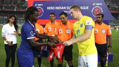 Bernard Mendy Peter Ramage Chennaiyin FC Kerala Blasters FC ISL season 2