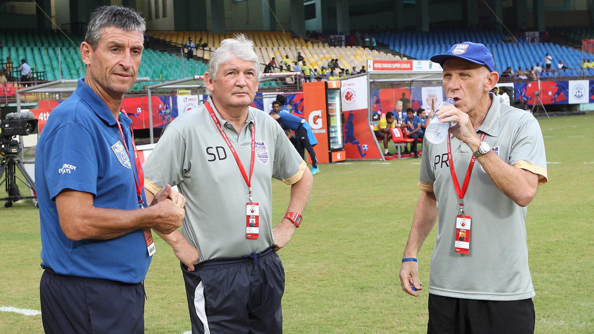 Trevor Morgan Steve Derby Peter Reid Mumbai City FC Kerala Blasters FC ISL