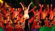 Jacqueline Fernandez performs during ISL Season 3 opening ceremony