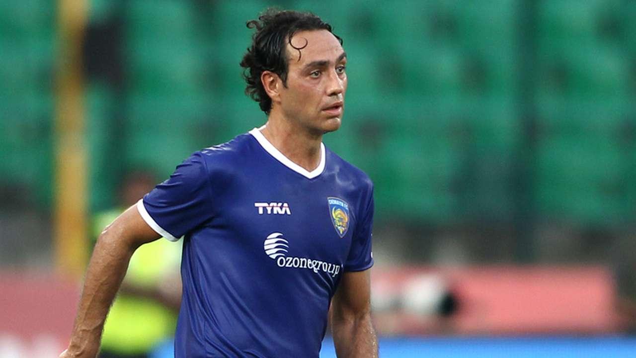 Alessandro Nesta of Chennaiyin FC during ISL match against Delhi Dynamos FC