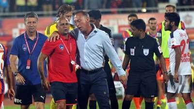 Roberto Carlos David Platt FC Pune City Delhi Dynamos FC ISL season 2 14102015