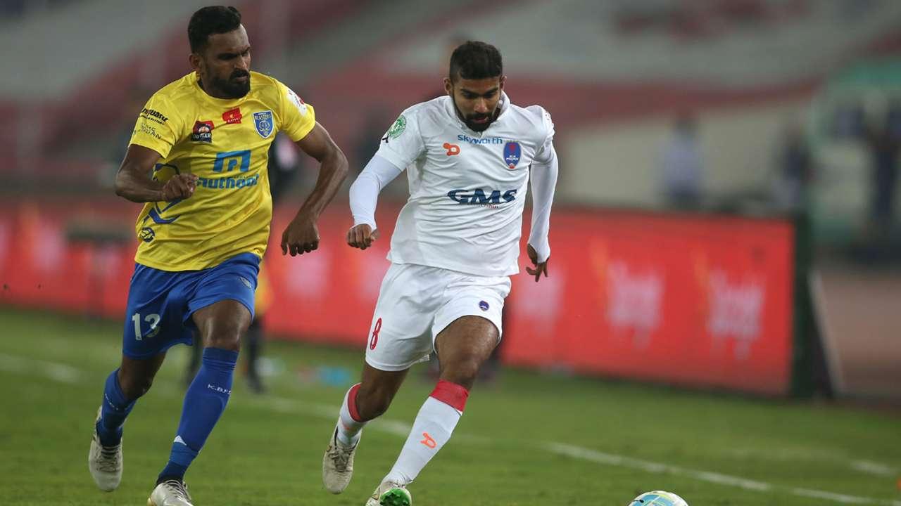 CK Vineeth Kean Lewis Delhi Dynamos FC Kerala Blasters FC ISL semi final season 3 2016