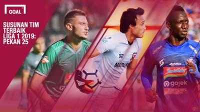 Susunan Tim Terbaik Liga 1 2019 Pekan 25
