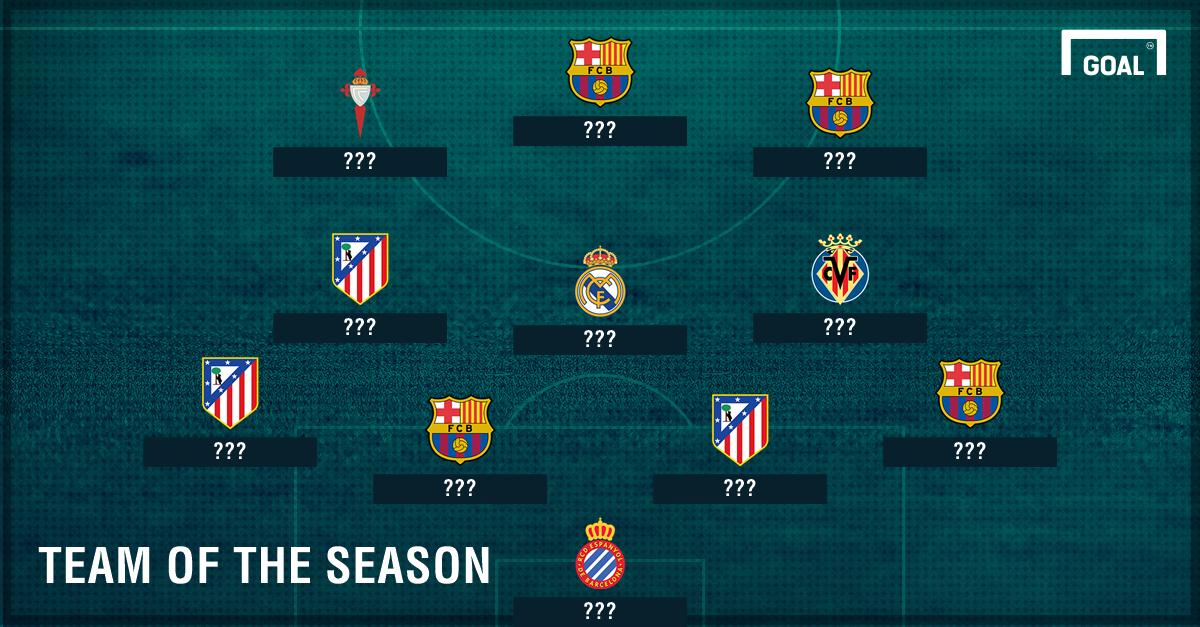 Tim Terbaik La Liga Spanyol 2016/17 Sejauh Ini