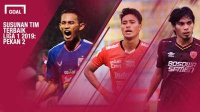 Tim Terbaik Liga 1 2019 Cover - Pekan 2