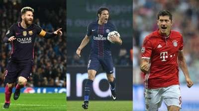 Lionel Messi & Deretan Pencetak Gol Terbanyak Liga Champions 2016/17 Sejauh Ini