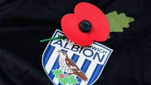 Remembrance Day Poppy on West Bromwich Albion badge 09112014