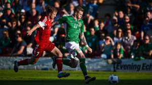 James McClean Mikita Korzun Republic of Ireland Belarus 31052016