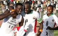 Former Harambee Stars captain Dennis Oliech and midfielder Macdonald Mariga