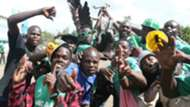 Gor Mahia fans outside Nyayo Stadium before the game kicked off
