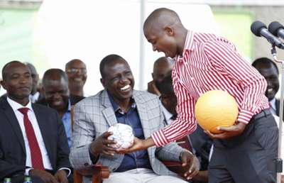 Newly elected President Nick Mwendwa had the chance to meet William Ruto on Friday