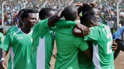 Gor Mahia celebrates as Dan Sserunkuma scores second goal against KRA.