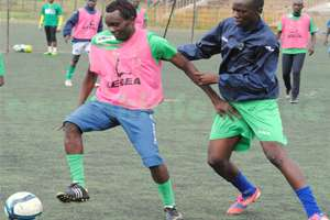 Gor Mahia striker Timothy Otieno in training.