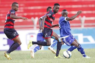 AFC Leopards midfielder Clifford Miheso v Jimmy Bageya of City Stars