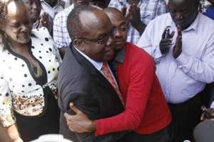 It was an historical moment on Tuesday as Sam Nyamweya handed over to new FKF President Nick Mwendwa