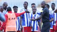Liberia players were persuaded to resume play and Kenya went on to win 1-0