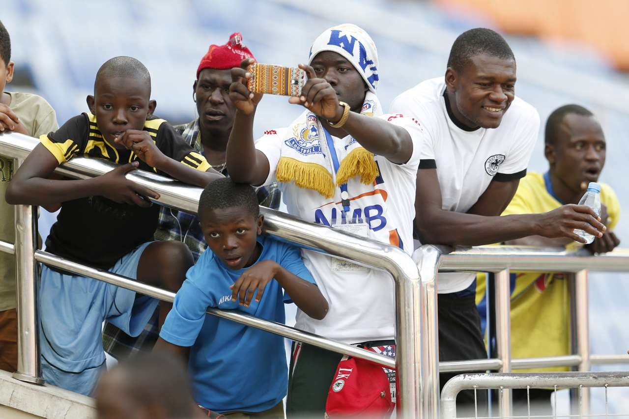 Azam FC fans reacts against Malakia FC on Tuesday. Azam won 2-0