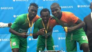 Zesco United trio of Jesse Were David Owino and Anthony Akumu