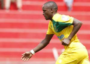 Mathare United striker Obadiah Ndege celebrates against Ushuru