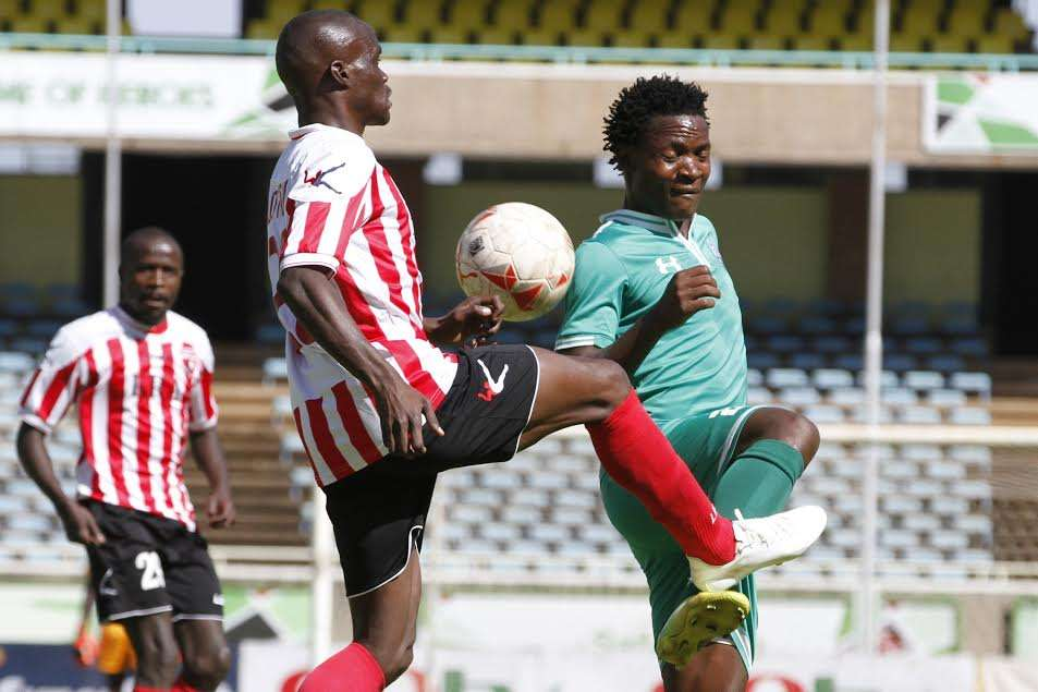 Gor Mahia midfielder George Odhiambo v Ushuru