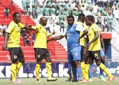 Gor Mahia striker Enock Agwanda v Tusker