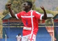 Wesley Onguso of Western Stima celebrates