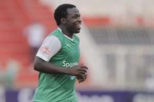Collins 'Gattuso' Okoth celebrate his winning goal for Gor Mahia against City Stars