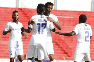Bandari striker Anthony Kimani, Felly Mulumba and Edwin Lavatsa