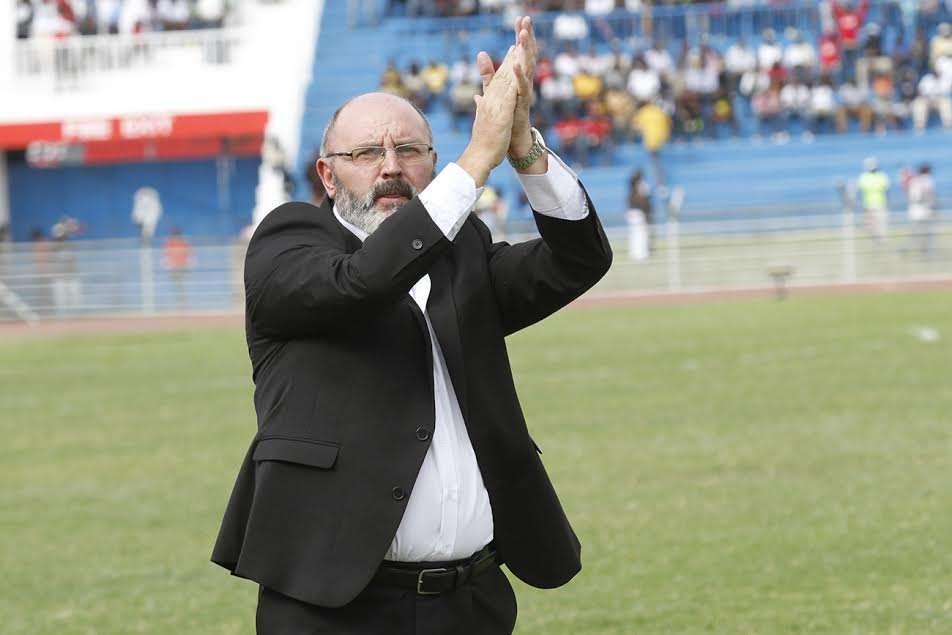 Harambee Stars coach Bobby Williamson after Zambia match on Sunday