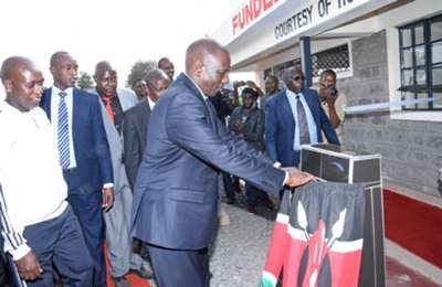 The newly refurbished Camp Toyoyo grounds in Eastlands was officially opened by William Ruto on Thursday