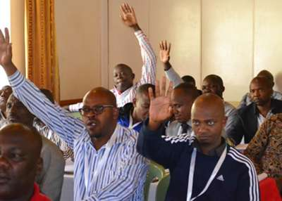 FKF delegates during the heated meeting that lasted ten hours