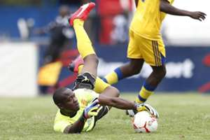 Nakumatt FC goalkeeper Wycillife Kasaya in a past action