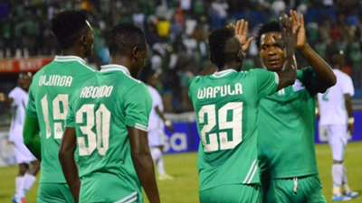 Gor Mahia players celebrate against Sony Sugar