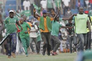 Gor Mahia fans could not hide their joy as Collins Okoth scored the winning goal