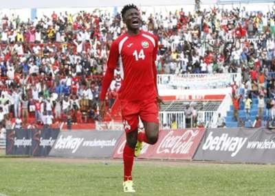 Gor Mahia striker Michael Olunga scored the fifth goal against Mauritius