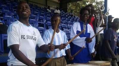Sofapaka fans cheering on their team against Ushuru.