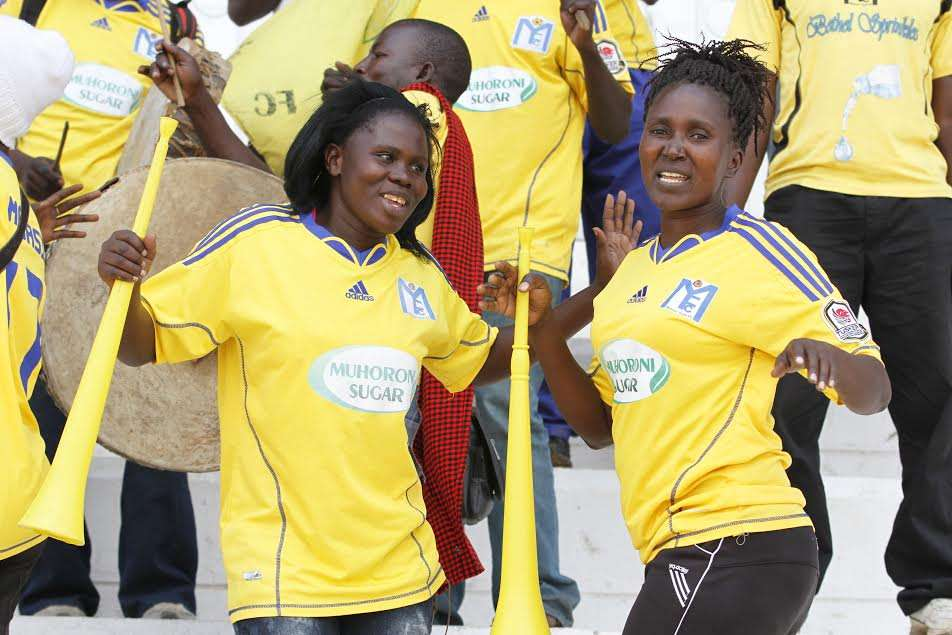 Muhoroni Youth fans were at hand to celebrate a huge win over struggling Tusker at Nyayo Stadium on Friday