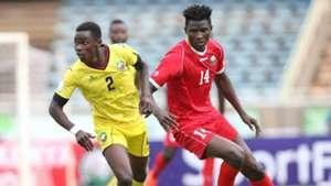 Harambee Stars striker Michael Olunga v Mozambique
