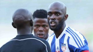 Agitated Liberia players protested to match officials at the decision to allow the goal to stand