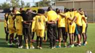 Tusker players put God first before holding their training session ahead of Saturday friendly