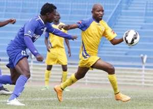 Bandari striker Shaban Kenga in action against St. Lupopo of DRC Congo on Sunday