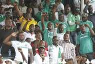 Gor Mahia fans at Afraha Stadium in Nakuru