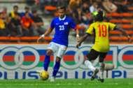 Malaysia's Hadin Azman in action against Papua New Guinea 14/11/16