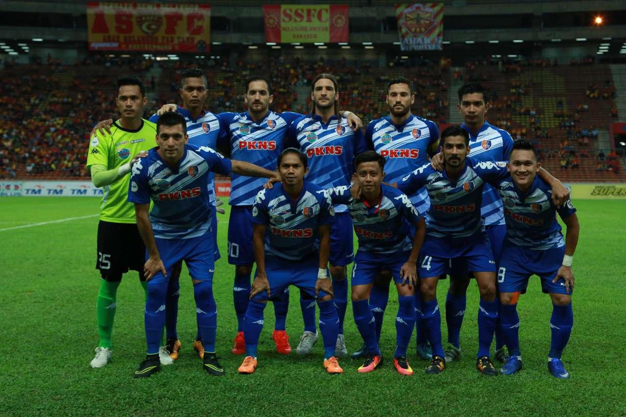 PKNS line-up against Selangor 17/09/16