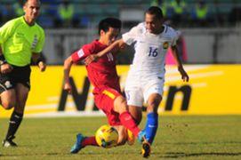 Malaysia's Syazwan Zainon in action against Vietnam - 2016 AFF Suzuki Cup 23/11/16