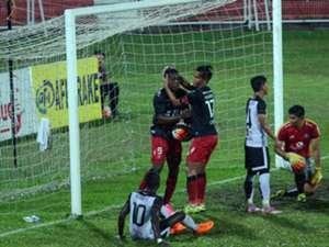 Sarawak players celebrating their goal against T-Team 26/7/2016